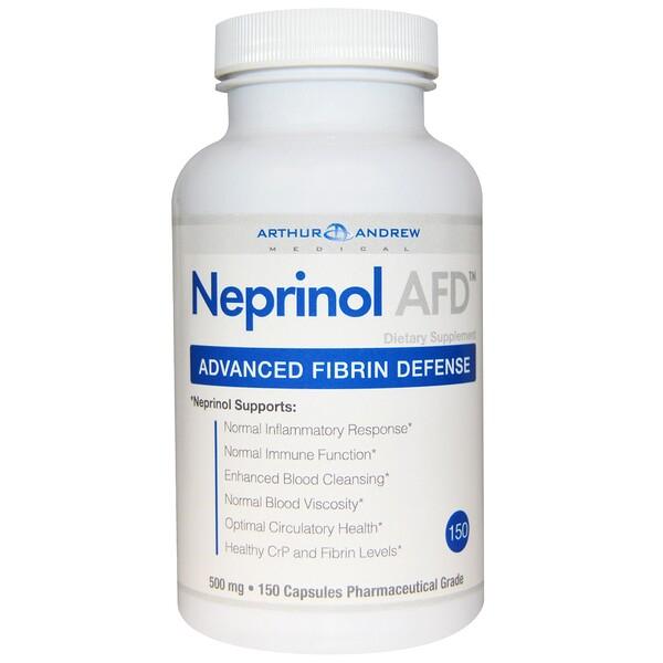 Neprinol AFD, улучшенная фибриновая защита, 500 мг, 150 капсул
