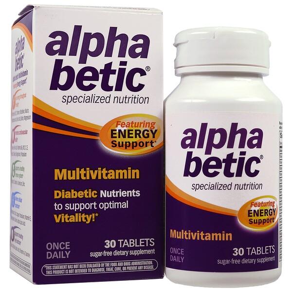 Alpha Betic, мультивитамины, 30 таблеток