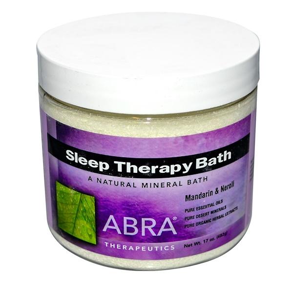 Abra Therapeutics, Терапия сна для ванн, мандарин и нероли 17 унции (482 г) (Discontinued Item)