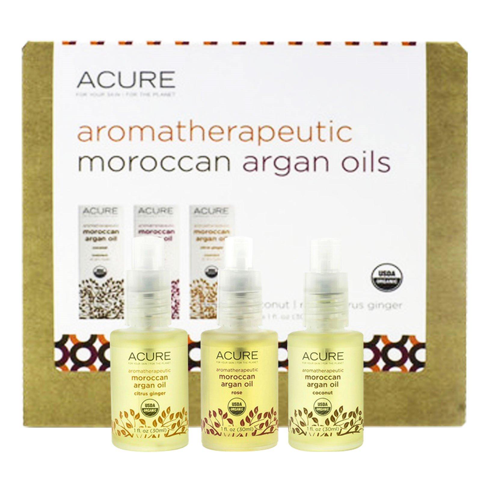 Acure, Aromatherapeutic Moroccan Argan Oils Trio Set