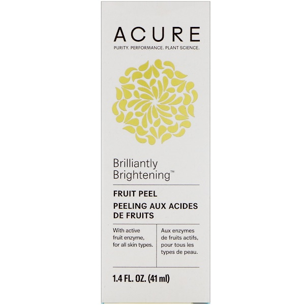 Acure, Brilliantly Brightening, Fruit Peel, 1.4 fl oz (41 ml) (Discontinued Item)