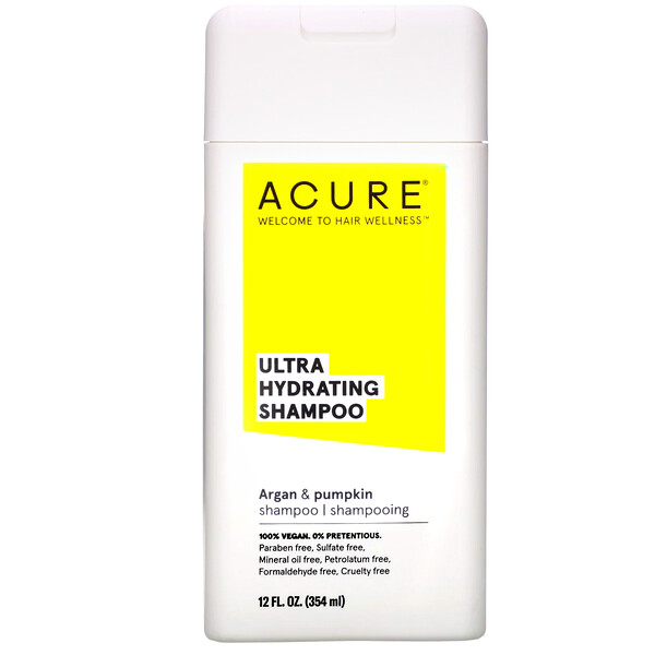 Acure, Ультраувлажняющий шампунь, аргановое масло и тыква, 354мл (12жидк.унций) (Discontinued Item)