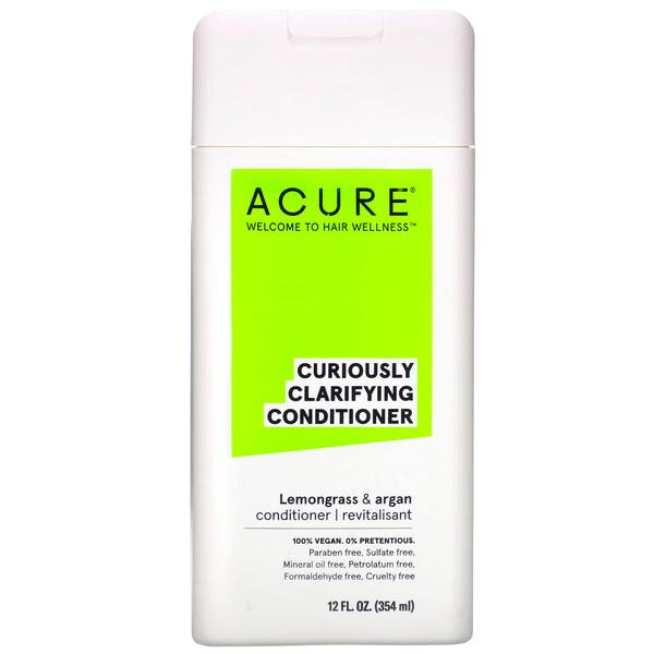 Acure, Кондиционер Curily Clarifying, лемонграсс и арган, 354 мл (12 жидких унций) (Discontinued Item)