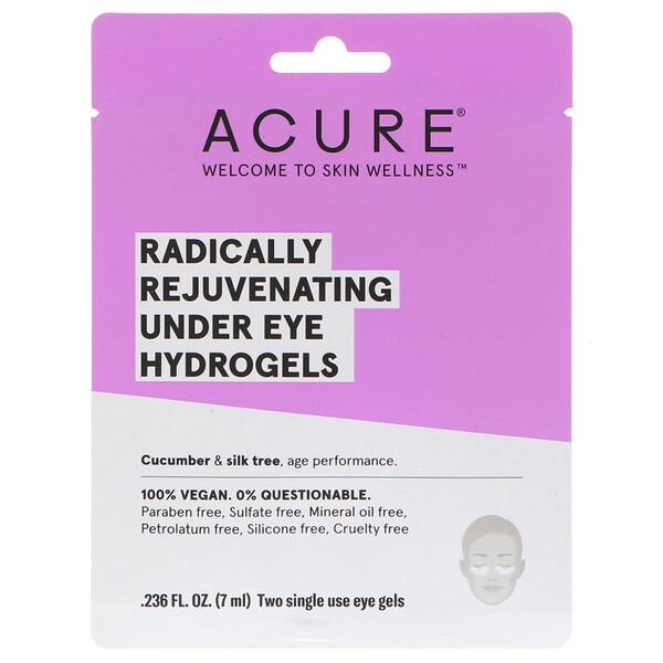 Радикально омолаживающая гидрогелевая маска под глаза, 2 одноразовых гелевых накладки, 0,236 ж. унц. (7 мл)