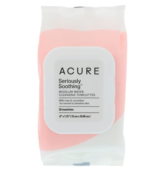 Acure, Seriously Soothing, чистящие салфетки с мицеллярной водой, 30 салфеток (Discontinued Item)
