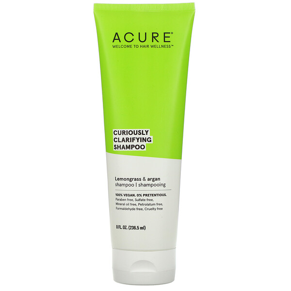 Curiously Clarifying Shampoo, Lemongrass & Argan, 8 fl oz (236.5 ml)