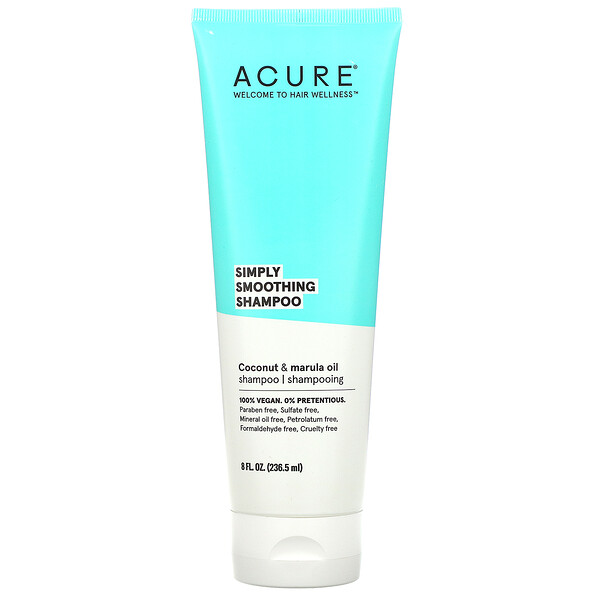 Acure, Simply Smoothing Shampoo, Coconut & Marula Oil, 8 fl oz (236.5 ml)