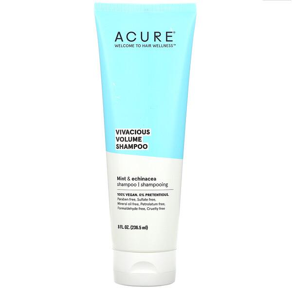 Acure, Vivacious Volume Shampoo, Mint & Echinacea,  8 fl oz (236.5 ml)