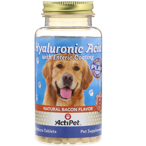 Actipet, Hyaluronic Acid for Dogs, Natural Cheddar Cheese Flavor, 60 Micro-Tablets (Discontinued Item)