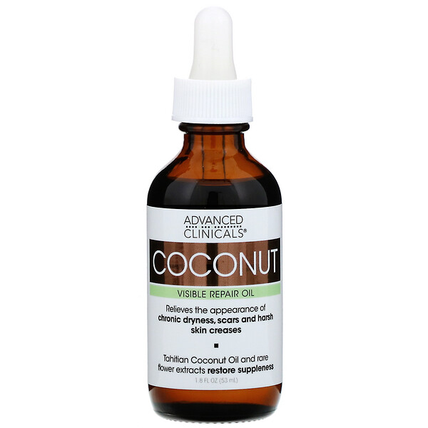 Advanced Clinicals, Coconut Oil, 1.8 fl oz (53 ml) (Discontinued Item)