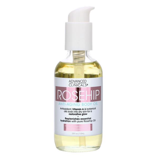 Rosehip, Anti-Aging Body Oil, 3.8 fl oz (112 ml)