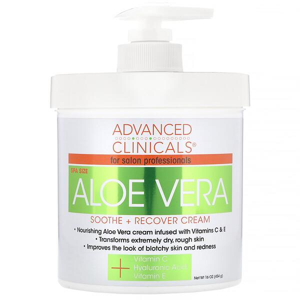 Aloe Vera, Soothe + Recover Cream, 16 oz (454 g)