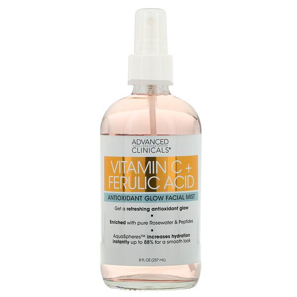 Vitamin C + Ferulic Acid, Antioxidant Glow Facial Mist, 8 fl oz (237 ml)