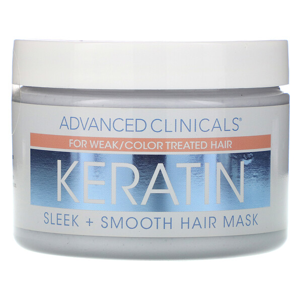 Advanced Clinicals, Keratin,  Sleek + Smooth Hair Mask,  12 oz (340 g)