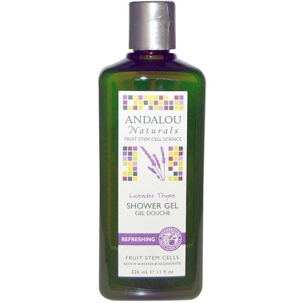 Andalou Naturals, Lavender Thyme Refreshing Shower Gel, 11 fl oz (326 ml) (Discontinued Item)
