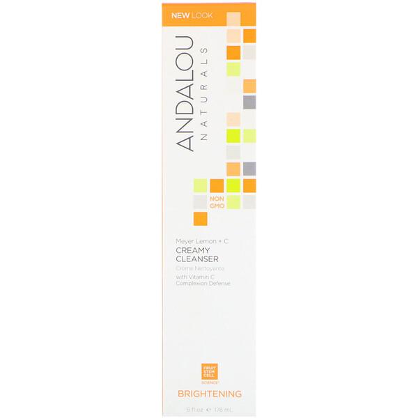 Сливочное чистящее средство, лимон Мейера + витамин C, осветляющее, 6 ж. унц. (178 мл)