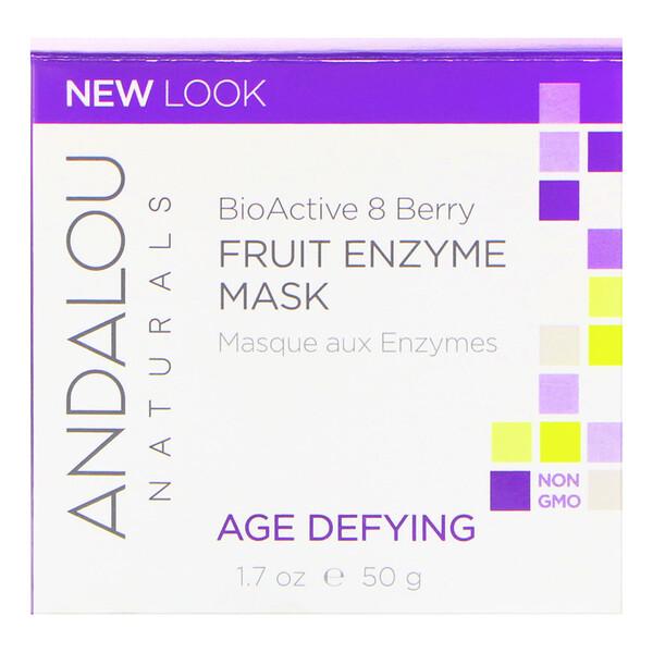Andalou Naturals, Фруктовая ферментная маска, биоактивный комплекс 8 ягод, антивозрастная, 50 г (1,7 унции)