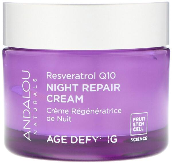 Ночной восстанавливающий крем, Ресвератрол Q10, против старения, 50 мл