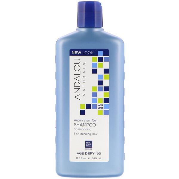 Andalou Naturals, Шампунь, антивозрастной, для редеющих волос, стволовые клетки арганы, 340мл (11,5жидк.унций)