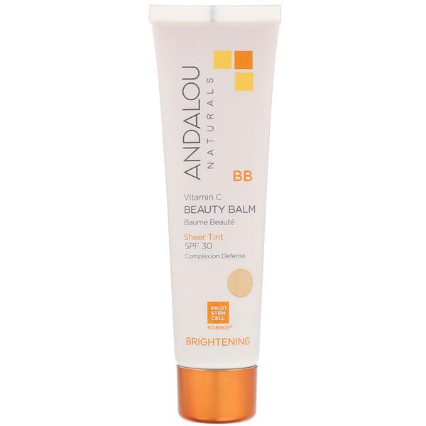 BB Vitamin C Beauty Balm, Brightening, SPF 30, Sheer Tint, 2 fl oz (58 ml)