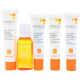 Andalou Naturals, начальный комплект, набор омолаживающих средств для ухода за кожей из 5 предметов - iHerb
