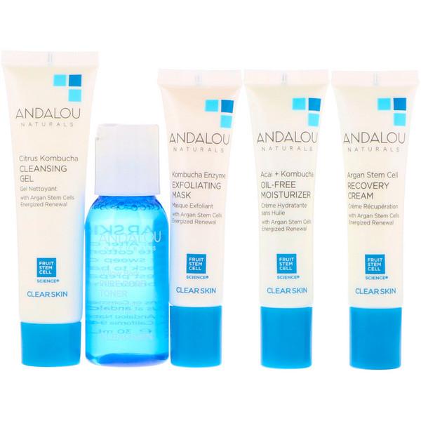 Andalou Naturals, Начни очищение, основы ухода за кожей, набор из 5 предметов