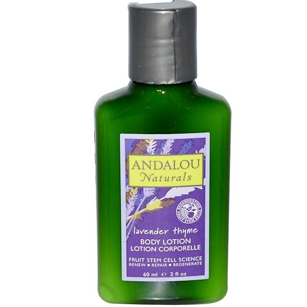 Andalou Naturals, Лосьон для тела, лаванда и тимьян, 2 жидких унции (60 мл) (Discontinued Item)