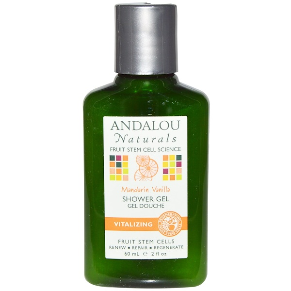 Andalou Naturals, Shower Gel, Mandarin Vanilla, 2 fl oz (60 ml) (Discontinued Item)