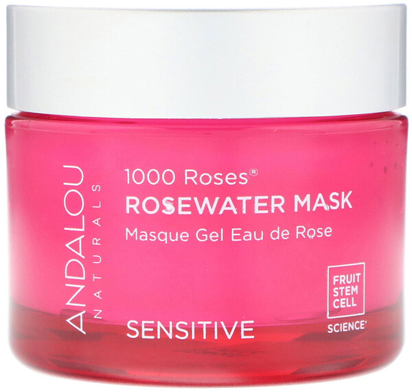 Andalou Naturals, 1000 Roses, маска с розовой водой, для чувствительной кожи, 50 г (1,7 унции)