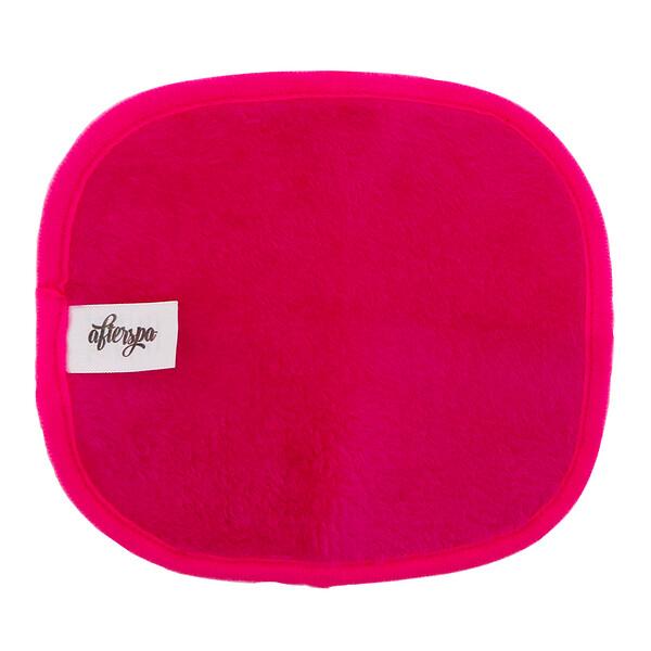 AfterSpa, Волшебная многоразовая салфетка для снятия макияжа — мини, розовая, 1 салфетка