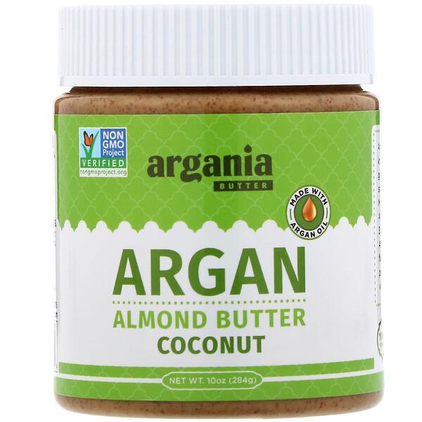 Argania Butter, Миндальная паста с аргановым маслом, кокос, 284г (Discontinued Item)