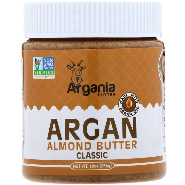 Argania Butter, Миндальная паста с аргановым маслом, классическая, 284г (Discontinued Item)