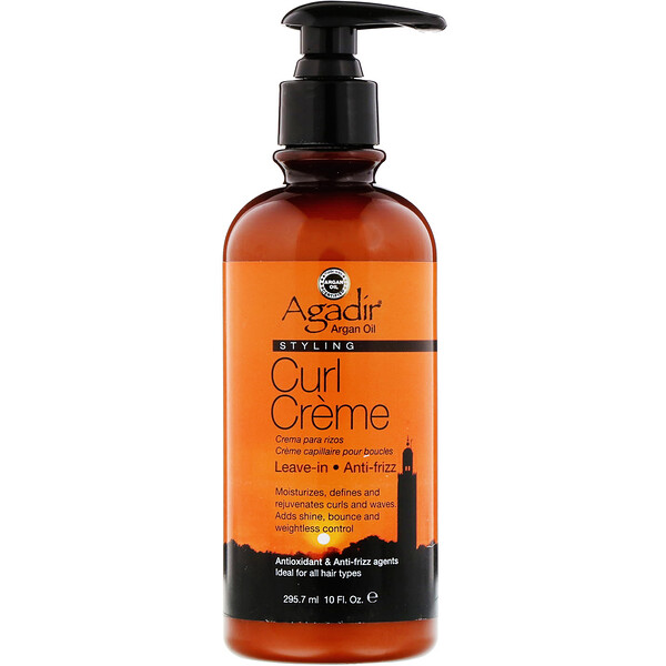 Argan Oil, Styling Curl Creme, 10 fl oz (295.7 ml)