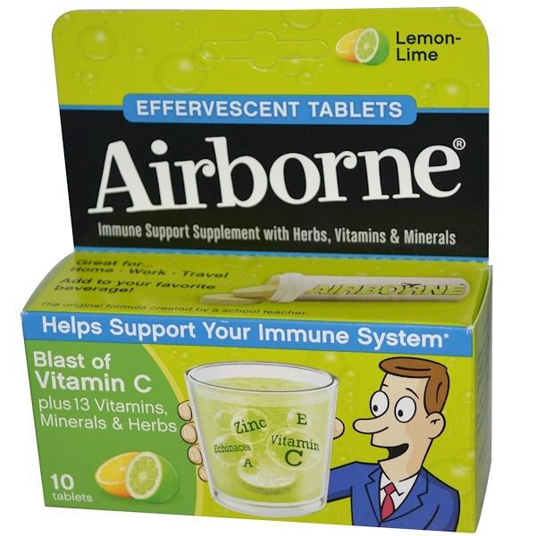 Заряд витамина С, лимон-лайм, 10 шипучих таблеток