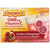 Emergen-C, ВитаминС, клюква-гранат, 1000мг, 30пакетиков, 8,4г (0,30 унции) в каждом пакетике