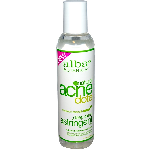 Alba Botanica, Acne Dote, Deep Clean Astringent, Oil-Free, 6 fl oz (177 ml) (Discontinued Item)
