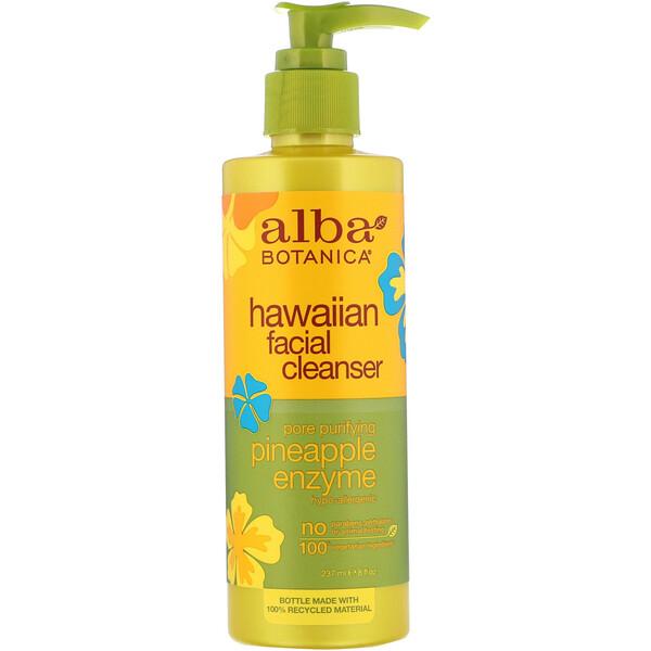 Alba Botanica, Очищающее средство для лица с ферментами ананаса, 8 жидких унций (237 мл)