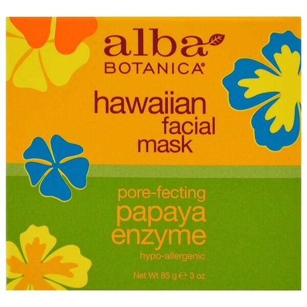 Гавайская маска для лица, с ферментом папайи для сужения пор, 3 унции (85 г)