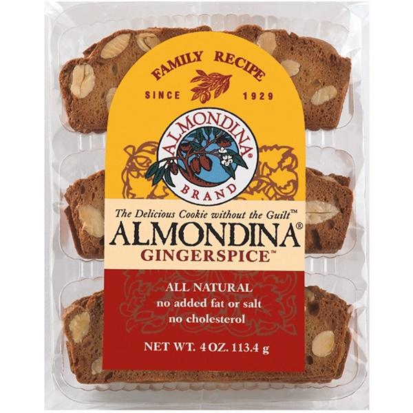 Almondina, Gingerspice, миндаль и имбирное печенье, 4 унции (113 г) (Discontinued Item)