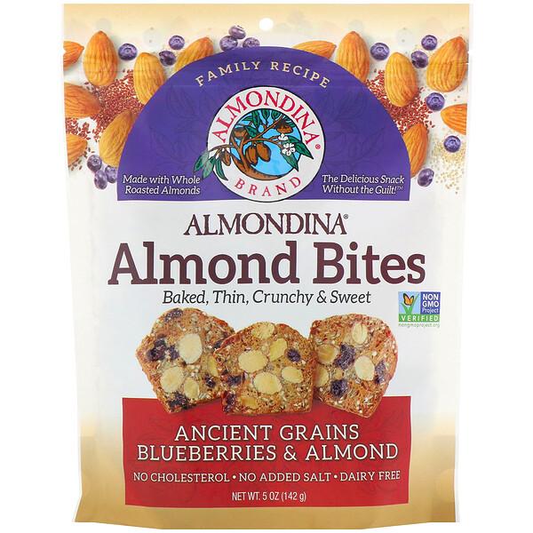 Almond Bites, Ancient Grains Blueberries & Almonds, 5 oz (142 g)