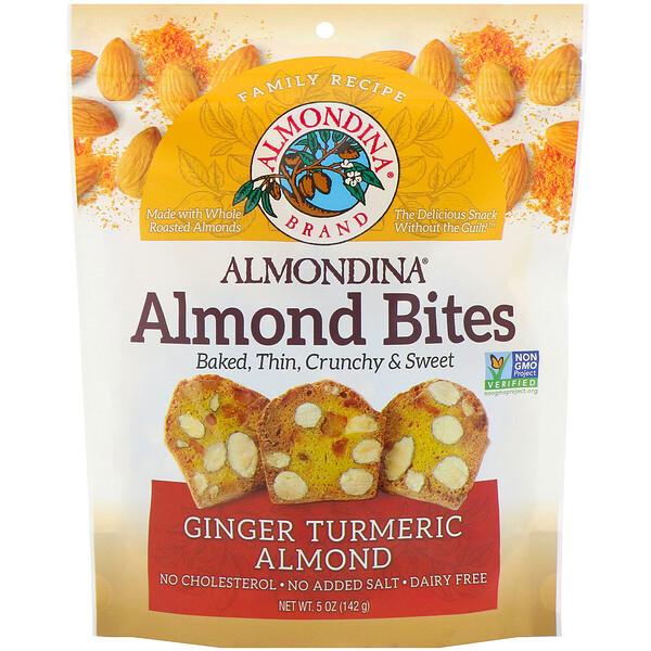 Almond Bites, Ginger Turmeric Almond, 5 oz (142 g)