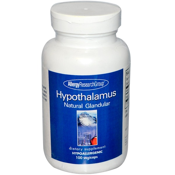 Allergy Research Group, Hypothalamus, Natural Glandular, 100 Veggie Caps (Discontinued Item)