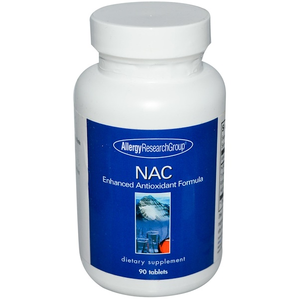 Allergy Research Group, NAC, Улучшенная антиоксидантная формула, 90 таблеток (Discontinued Item)