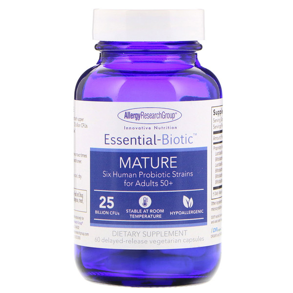 Allergy Research Group, Essential-Biotic, Mature, 60 Delayed-Release Vegetarian Capsules (Discontinued Item)