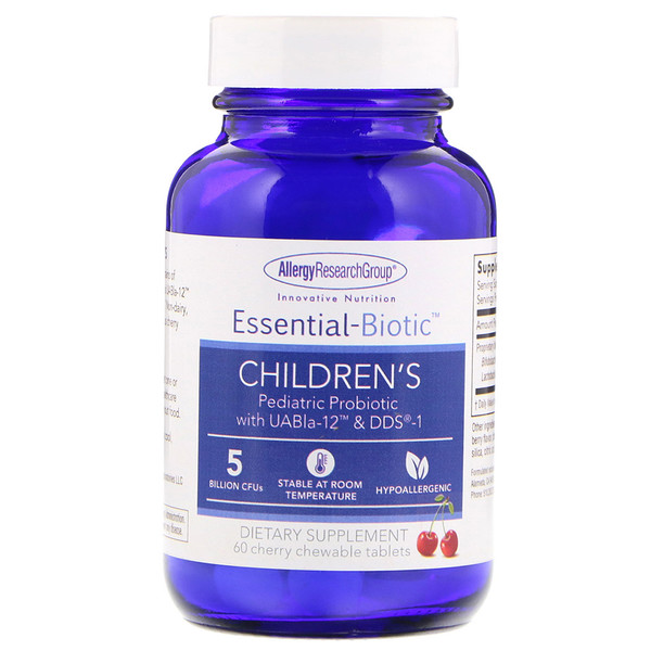Allergy Research Group, Essential-Biotic, Children's, 60 Cherry Chewable Tablets (Discontinued Item)