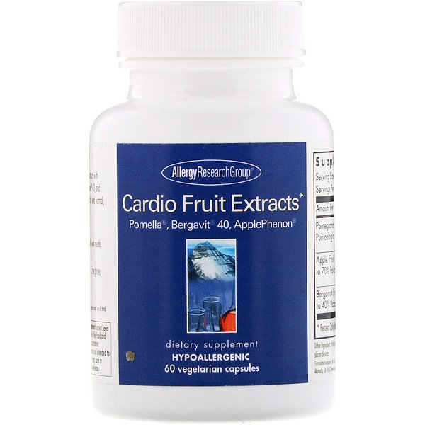 Allergy Research Group, Cardio Fruit Extracts, 60 Vegetarian Capsules