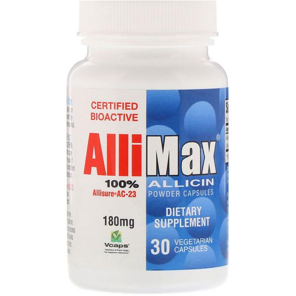 Капсулы с порошком 100%-ного аллицина, 180 мг, 30 капсул в растительной оболочке