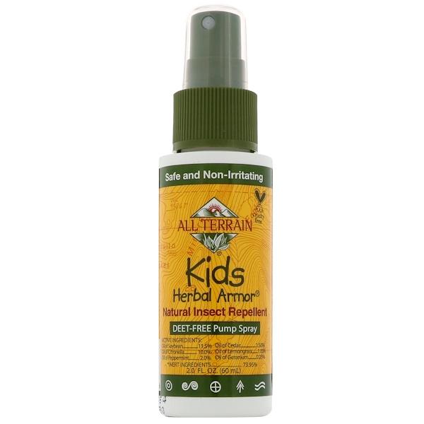 Kids Herbal Armor, Натуральный репеллент от насекомых, 2,0 ж. унц.(60 мл)