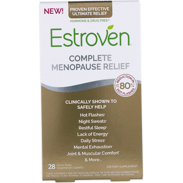 Estroven, Complete Menopause Relief, 28 Once Daily Vegetarian Caplets