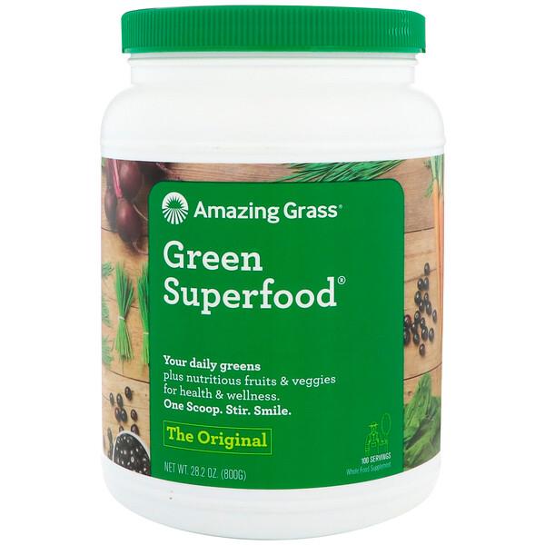 Amazing Grass, Green Superfood, оригинальный вкус, 800г (28,2унции)